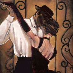Trish biddle American famous oil painting canvas prints reproduction elegant painting hang in the bar's wall/ Tango, Dance Silhouette, Vintage Pop Art, Canvas Art, Canvas Prints, Painting Canvas, Spanish Art, Dance Art, Bedroom Art
