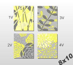 Yellow Gray Art Print Set Modern Vintage by PrintsbyChristine Christmas Gift Quotes, Teacher Christmas Gifts, Nature Prints, Art Prints, Grey Art, Gray, Thing 1, Bathroom Art, Wall Art Sets