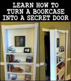 Wouldn't it be nice to have a secret room? If you've got an extra room you could use for this idea, then this bookcase project is for you!