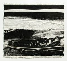 Brenda Hartill: Black and White I, embossed monoprint, unique. Image 43x48cm