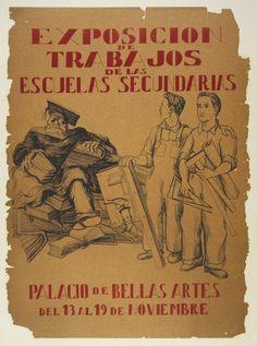"""Title: Exposicion De Trabajos / Origin: Mexico 19 x 27 in (48 x 67 cm) / """"Work and Labor Exposition  from Secondary Schools"""""""