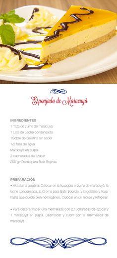 Esponjado de maracuya Mousse, Yummy Food, Tasty, Latin Food, Home Food, Food Humor, Different Recipes, Hot Dog Buns, Food To Make