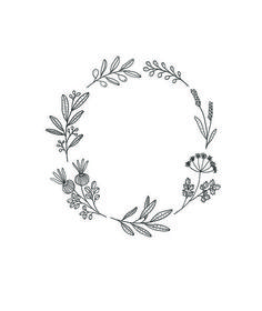 Pin by al or nothing on inkling wreath drawing, wreath tatto Kranz Tattoo, Embroidery Patterns, Hand Embroidery, Handpoked Tattoo, Botanical Line Drawing, Illustration Blume, Flower Wreath Illustration, Wreath Drawing, Bullet Journal Inspiration
