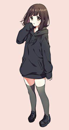 Luân Vô Song Cute Anime Pics, Anime Girl Cute, Beautiful Anime Girl, Kawaii Anime Girl, Anime Love, Anime Guys, Chat Kawaii, Kawaii Chan, Anime Girl Drawings