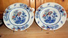 Pair Antique Dinner Plates/ Davenport/  by StyleJunkieAntiques, $600.00