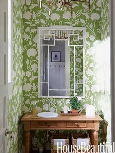 I've been trying to figure out how to play the downstairs bath... a stenciled green just might be the answer.