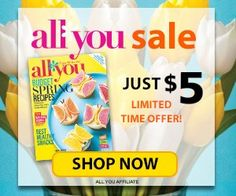 WOW! All*You Magazine is only $5.00/year! That is only $0.45 per issue! The coupons alone will pay for the subscription!  Click the link below to get all of the details ► http://www.thecouponingcouple.com/allyou-sale-only-5-00year-0-45-per-issue/  #Coupons #Couponing #CouponCommunity  Visit us at http://www.thecouponingcouple.com for more great posts!
