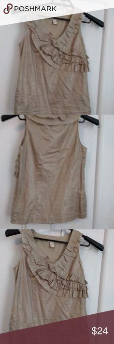 9fa2f0a5b96 J Crew Womens Top Size 0 Cotton ruffles v neck