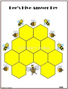 Pattern Blocks Animal Homes Puzzles (Homeschool Animal Sciences) Bee Hive Plans, Fall Cleaning, Science Activities, Math Games, Maths, Thing 1, Kindergarten Teachers, Bee Keeping, Pattern Blocks