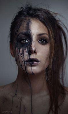 Image result for half face makeup