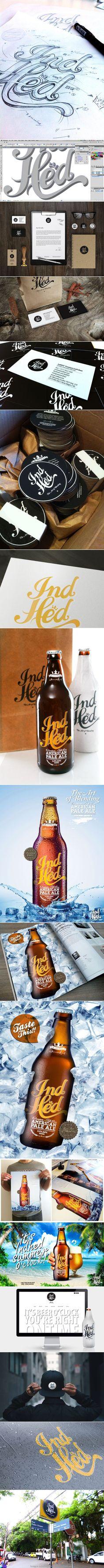 IndHed Premium Craft Beer Branding: