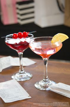 These two post-Thanksgiving drinks are easy and delicious after a long day of cooking or a long day of shopping. Just grab a bottle of Smirnoff Cherry and add Cranberry Juice OR Lemon-Lime Soda.