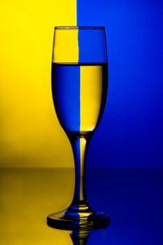 Yellow-blue by Anastasia Leanca / Glass Photography, Light Photography, Creative Photography, Royal Blue And Gold, Blue Gold, Mellow Yellow, Blue Yellow, Josi, Wine Art