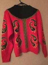 Vintage Bogner Sweater Paisley Small