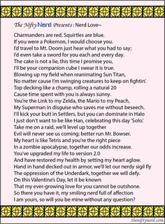 db37e4d81f0 Nerdy Love Poem for Valentine's Day or an anniversary. (Nerdy Valentine's  Day Cards:
