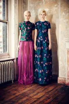 Love the floral fabric and rich colors! by Erdem