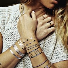 Flash Tattoos are the original metallic jewelry-inspired temporary tattoos worn by Beyonce, Vanessa Hudgens, and Alessandra Ambrosio. From boho to classic designs, Flash Tattoos are the perfect fashion accessory at music festivals like Coachella and Austin City Limits, beaches, pool parties, and more.