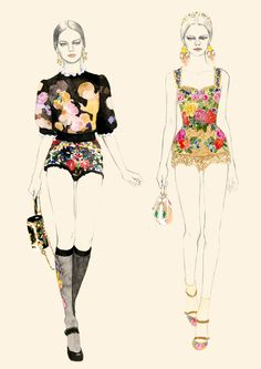 Teri Chung fashion illustartion Teri graduated from Parsons School of Design in 2003 with BFA in illustration. Her illustrations mostly cover high fashion looks. Art And Illustration, Fashion Illustration Sketches, Fashion Sketches, Drawing Fashion, Lingerie Illustration, Arte Fashion, Fashion Moda, Fashion Design, Floral Fashion