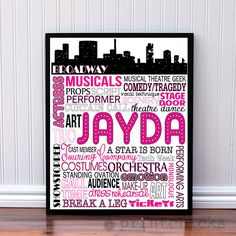 Theater Decor - Broadway Poster - Personalized Musical Theater Decor WANT SO BAD