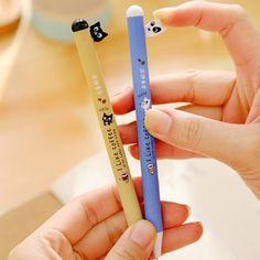 Kawaii Cartoon Cat Erasable Pen Cute Dog Gel Pens For Kids Writing Gift Office School Supplies Free Shipping 3931 #Affiliate