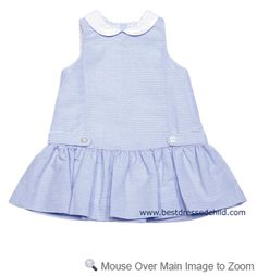 Another sweet blue dress with white collar. If someone has three girls, you need to get the three versions of this dress. SO CUTE!