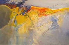 Golden Dove acrylic painting 32 x 48 inches by Stephen Quiller