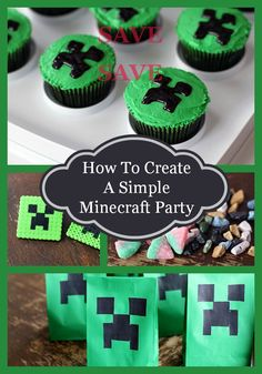 Minecraft birthday parties are the hottest thing for kids right now. Here are a bunch of the easiest yet greatest Minecraft Birthday Party ideas for the busy mom and dad! From @The Kitchen Magpie Karlynn Johnston