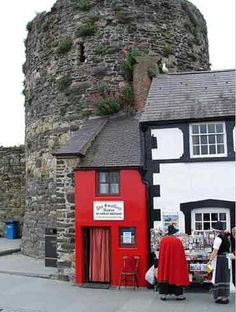 The smallest house in Britain, Conwy, Wales.