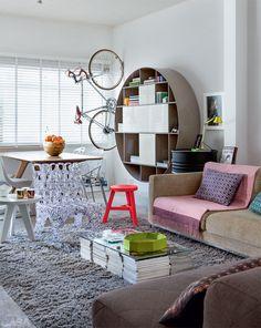 Casa pequena, alugada e térrea com decoração descolada - Casa