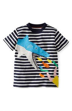 Mini Boden 'Seaside Appliqué' T-Shirt (Toddler Boys, Little Boys & Big Boys) available at #Nordstrom