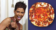 It may not have been a proposal night, but Halle Berry deserved to rock the 5.54-carat Pumpkin Diamond, loaned by Harry Winston, to match her Oscar for Monster's Ball. The orange diamond is also one of the rarest, and therefore more expensive, among colored diamonds.