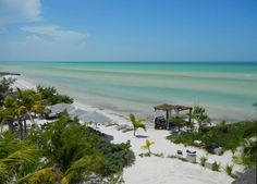 Holbox Island - our boat stopped for snorkeling near here
