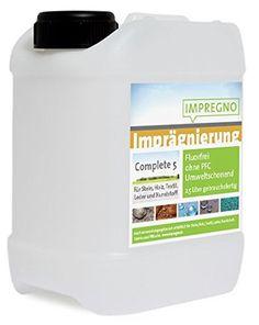 """IMPREGNO Imprägnierung """"COMPLETE 5"""" 5 Liter Universal Imprägniermittel Fluorfrei/PFC-frei IMPREGNO http://www.amazon.de/dp/B014KRI94W/ref=cm_sw_r_pi_dp_nfuJwb02V0A26"""