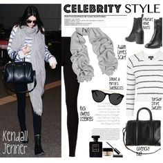 How To Wear Celebrity Airport Style Kendall Jenner Outfit Idea 2017 - Fashion Trends Ready To Wear For Plus Size, Curvy Women Over 20, 30, 40, 50