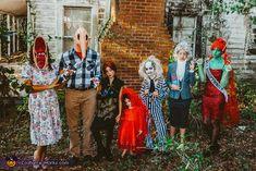 Movie Character Halloween Costumes, Beetlejuice Halloween Costume, Halloween Juice, Best Group Halloween Costumes, Pirate Halloween, Halloween Costume Contest, Family Costumes, Group Costumes, Costume Ideas