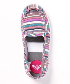 Look at this #zulilyfind! Gray & Blue Lido II Slip-On Shoe by Roxy #zulilyfinds