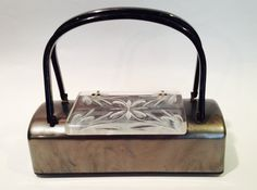Vintage Lucite Silver Grey Purse 1950s by WhirleyShirley on Etsy https://www.etsy.com/listing/184769266/vintage-lucite-silver-grey-purse-1950s