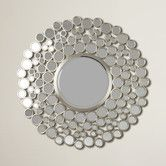 nts: try the circles w/rect mirror - maybe colored circles? Found it at Wayfair - Kentwood Round Wall Mirror Wall Mirror With Shelf, Round Wall Mirror, Mirror Set, Round Mirrors, Mirror Room, Ikea Living Room, Living Room Mirrors, Circular Mirror, Sunburst Mirror
