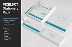 Pixeldot Stationary Pack by alimran24 on @creativework247