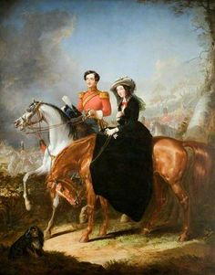 Devereux Cockburn (1828–1850), Royal Scots Guard, and His Sister Anne Russell, by Thomas Jones Barker ~ 1854