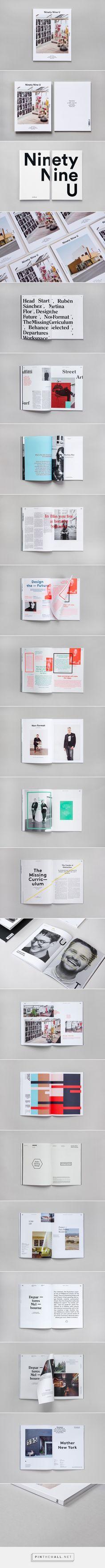 #layout #magazine Ninety Nine U Magazine No 10 on Behance