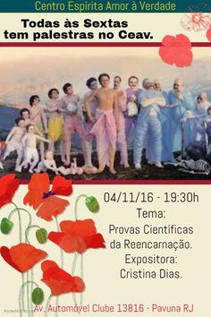 CEAV Convida para a sua Palestra Pública - Pavuna – RJ - http://www.agendaespiritabrasil.com.br/2016/11/04/ceav-convida-para-sua-palestra-publica-pavuna-rj-23/