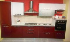 Imab Group - cucina modello Positano, laccata visone lucido con ...