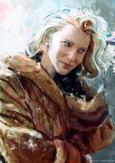 from artist Relly Coquia - a piece of fan art that captures #CarolAird so well. #CateBlanchett #Carolmovie