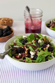 Blackberry chèvre salad from Annie's Eats