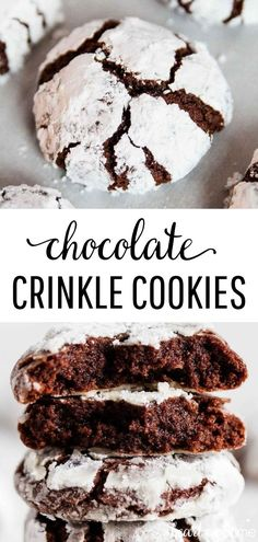 Chocolate Crinkle Cookies - Fudgy on the inside with a crisp outside edge! So rich and decadent and adored by any and all chocolate lovers. #chocolate #chocolaterecipes #cookies #cookierecipes #christmascookies #christmas #christmasrecipes #baking #recipes #iheartnaptime