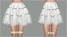 Ballet Tier Mini skirt at Marigold • Sims 4 Updates