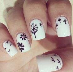 30 Super Kreative Black and White Nail Art Designs Nail Art Designs 2016, Cute Nail Designs, Black And White Nail Art, White Nails, Uñas Diy, Nail Art Stamping Plates, Dot Nail Art, Magic Nails, Makeup