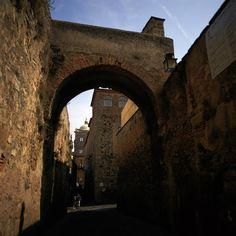 Ciudad vieja de Cáceres España.
