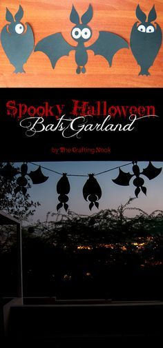 Cute Spooky Halloween Bats Garland {+ Cut Files}